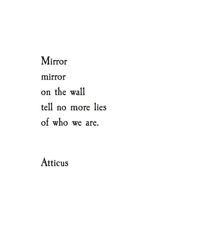 'Mirror' #atticuspoetry
