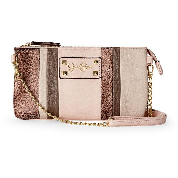 Jessica Simpson Blush Ryanne Patchwork Mini Crossbody (145 DKK) ❤ liked on Polyvore featuring bags, handbags, shoulder bags, pink, mini shoulder bag, pink handbags, jessica simpson purses, mini purse and faux leather shoulder bag