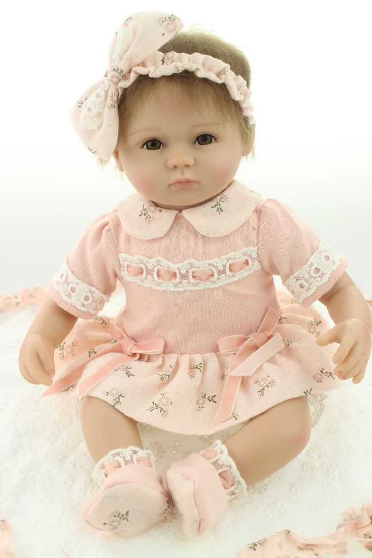 Cheap Dolls, Buy Directly from China Suppliers: Silicone reborn baby doll toys for girl, lifelike 45cm reborn babies play house toy kids child birthday gift girl brinq