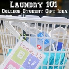 Laundry 101 College Student Gift Idea. The free printable has instruction on how to clean different stains and a chart on what the different laundry symbols mean! #college #collegestudent #collegegiftidea #giftidea #giftguide #collegestudentgift #graduation #graduationgiftidea #graduationgift #laundry101 #laundry #adulting http://ift.tt/2qj4piZ