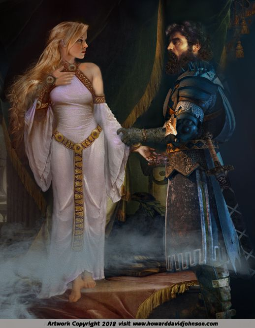 King Arthur The Knights Of Round Table Paintings Arthurian Legends By Howard David Johnson