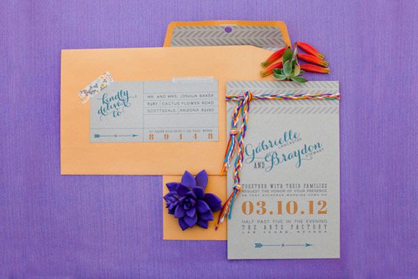 This styled shoot of color popping inspiration is perfect for a modern meets fiesta + desert + latin + native theme.