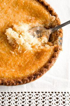 Paula Deen French Coconut Pie - This is GREAT! Hubby doesn't like really sweet pies and he said to KEEP THIS ONE!