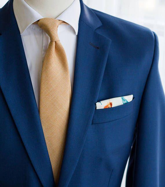 Pastell Pfirsich orange Krawatte, schmale Krawatte Wolle