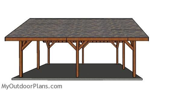 20 24 Pavilion Free Diy Plans With Images Outdoor Kitchen