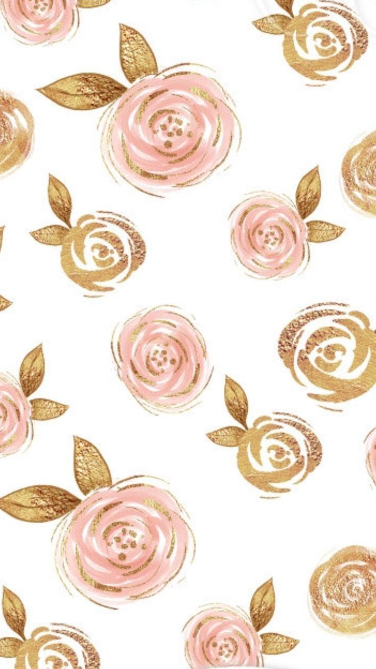 Paper Prints Image By Duchess Flower Phone Wallpaper Gold