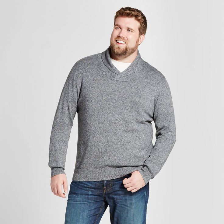 Men's Big & Tall Pullover Shawl Collar Sweater - Goodfellow & Co Gray 2XBT