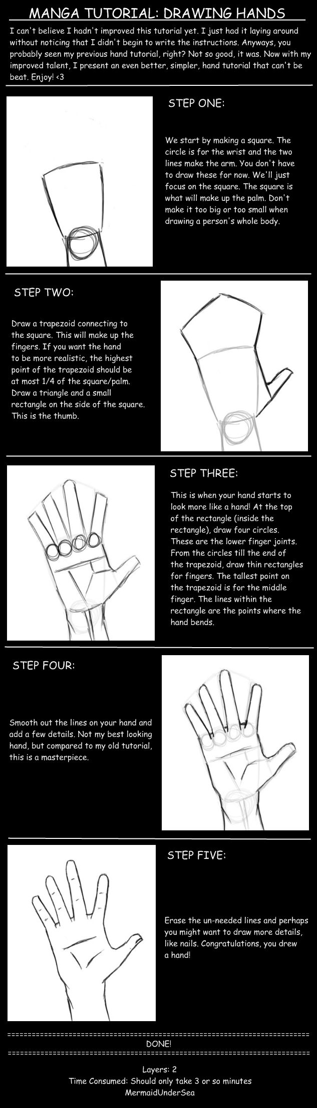Manga Tutorial- Hands by MermaidUnderSea on deviantART