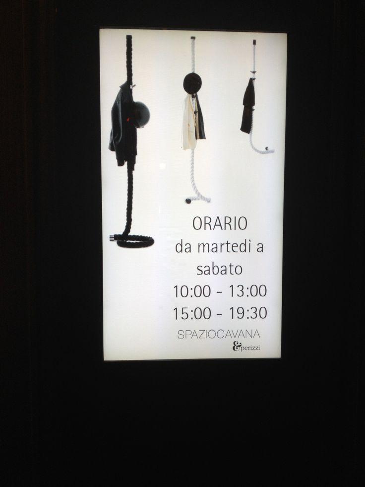 Our #LaCima #clothes #hanger on the timetable #Spazio #Cavana #ZinelliPerizzi #Trieste #youropinionworld
