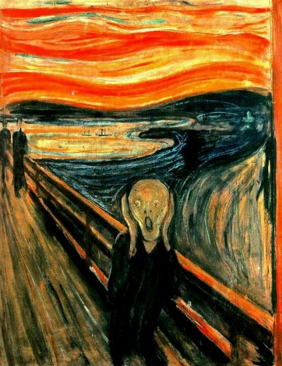 El grito de Munch.Expresionismo 1896.