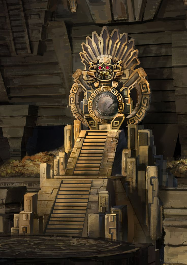 ArtStation - Throne_The Guardian of Xibalba, Katrina Yong