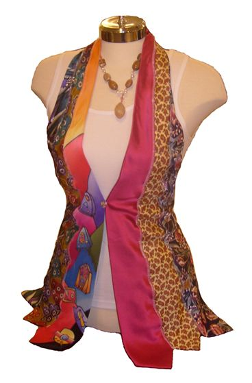 "repurposed clothing ideas | Cool upcycled necktie vest by Ragz Design House ""Ex-boyfriend ..."