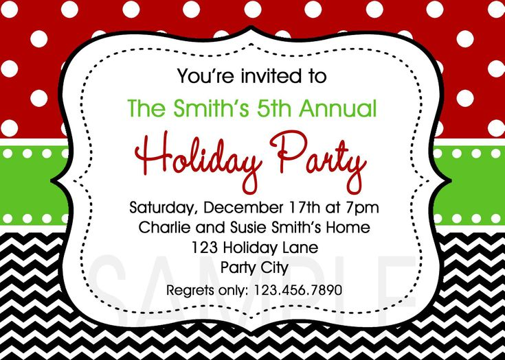 The 25+ best Christmas party invitation template ideas on - free template invitation