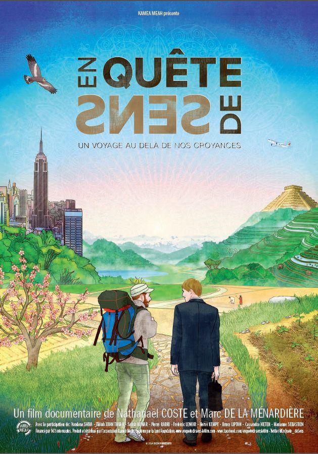 En quête de sens est un film de Nathanaël Coste avec Vandana Shiva, Pierre Rabhi. Synopsis : Ni un film environnemental, ni un film de voyage, ni réellement fictionné, ni totalement documentaire, incarné mais pas intimiste, ce film ressemble a