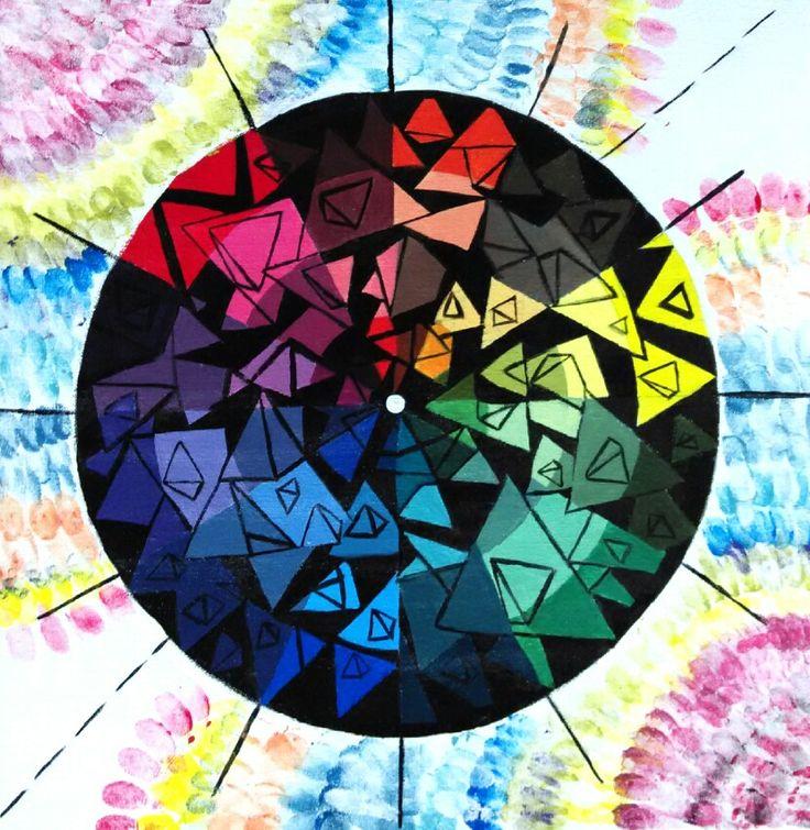 Nirmana 1, project 3: color wheel, UPH, Sod, DP. 2015