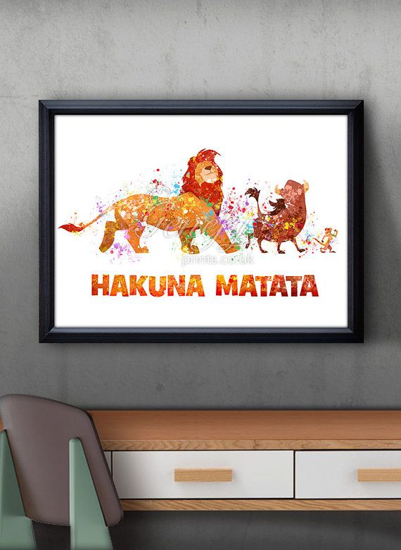 Disney Lion King Watercolor Art Print, Disney Lion King Poster, Disney Art, Disney Lion King Illustration, Wall Art, Artwork, Gift, Home Decor Paper: Epson Heavy Weight High Quality Paper Ink: High Quality Epson ink for vibrant prints Various dimensions offered to fit standard photo frame sizes. Check out other Disney listings here: https://www.etsy.com/uk/shop/GenefyPrints?section_id=17902514&ref=shopsection_leftnav_5 Check out other Quote listings ...