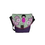 Personalized Kokeshi Doll, Courier Bags  http://www.zazzle.com/personalized_kokeshi_doll_bags_courier_bags-210140107697759637