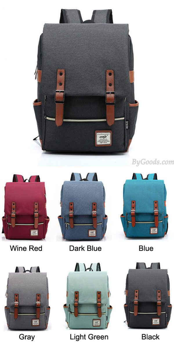 Best college backpacks!! Which color do you like? good quality. Vintage Travel Backpack Leisure Canvas With Leather Backpack&Schoolbag #backpack #school #bag #travel #vintage #bag #rucksack #college