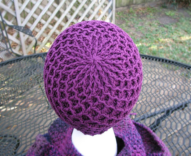 Diamond Ridges free crochet hat pattern by Kristy Ashmore