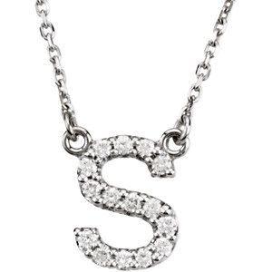 R Alphabet In Diamond Upper Case Block Diamond Letter Initial Necklace by JPoliseno, $490.00 ...