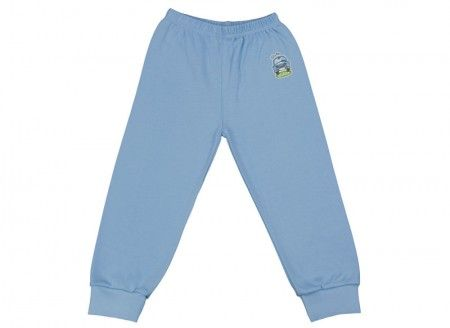 Pantalonaşi cu elastic în talie albastru deschis 100% bumbac | Cod produs: NIG123
