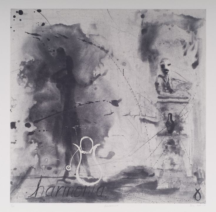 Harmonia (2010). Edition of 2010.  Spitbite Aquatint and drypoint