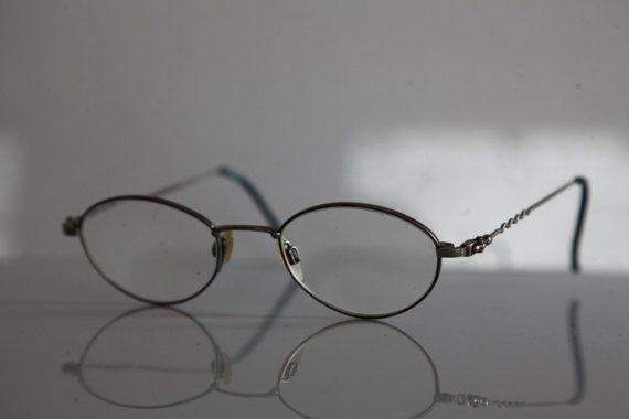 Vintage Silver Frame,  Oval RX Prescription Lenses.