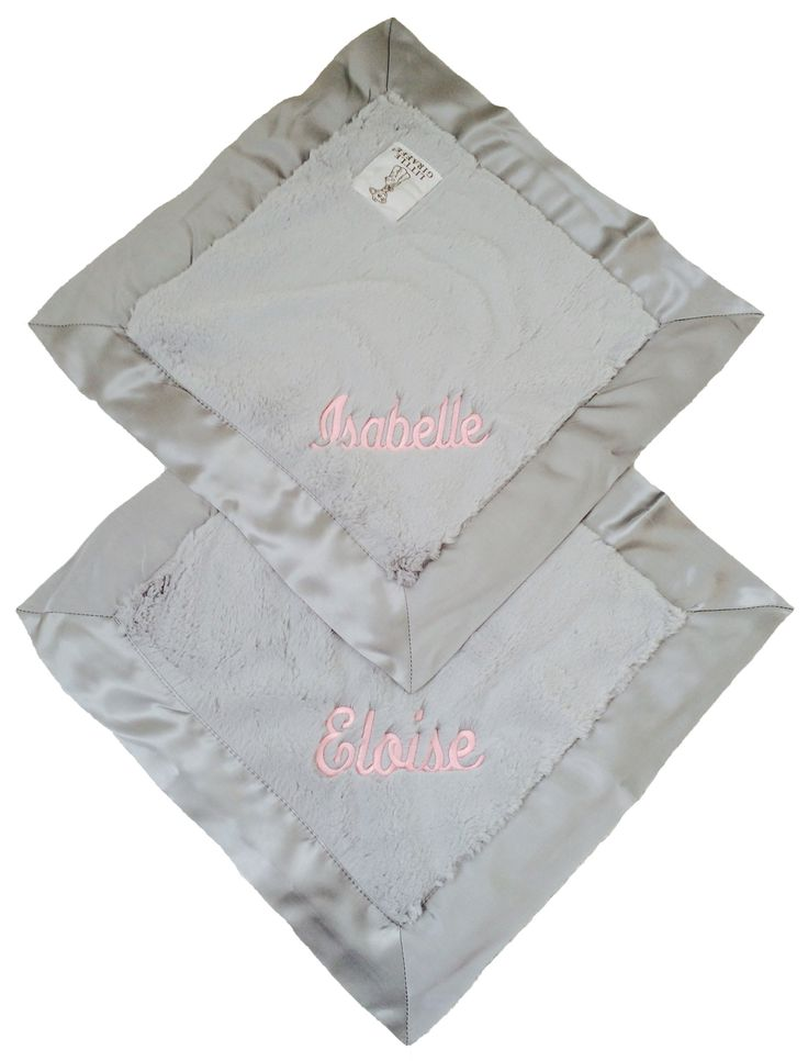 24 best personalized baby gifts blankets images on pinterest little giraffe sliver luxe blankies with our custom embroidery for the twins isabelle and eloise negle Gallery