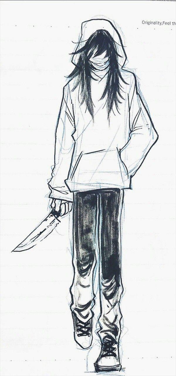 Джефф рисунки карандашом поэтапно