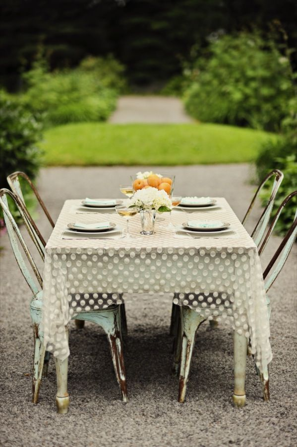 Sheer tablecloth