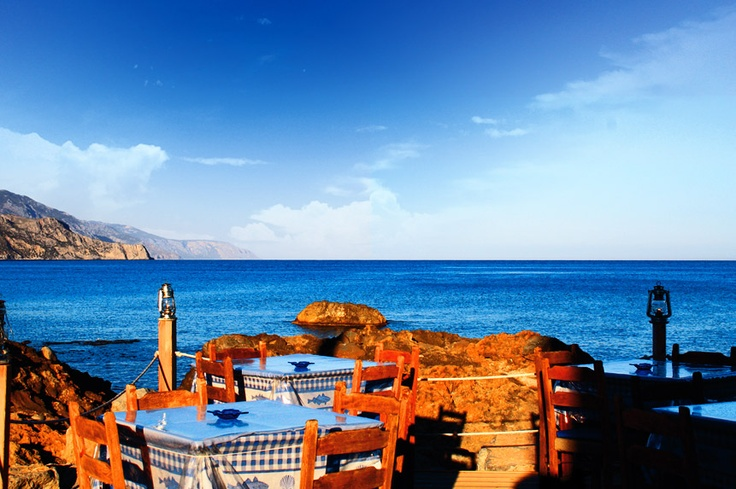 Dinner at the water front in 'Paleochora' south west Crete. http://www.kritiguide.com/