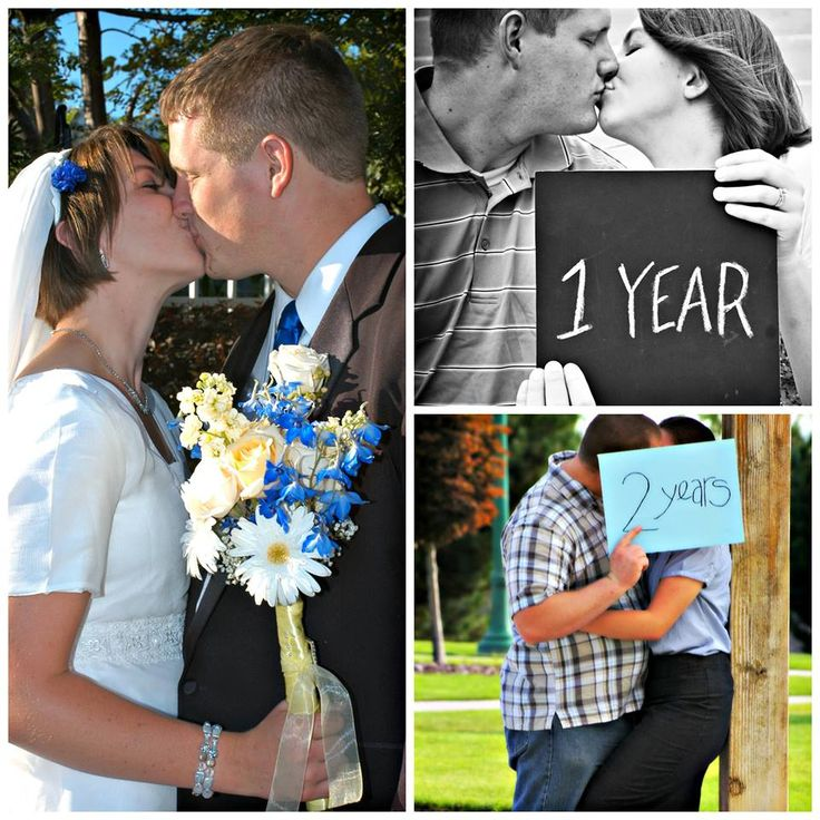I saw this idea when I was first married. Every year on your anniversary you take a picture with the numbers of years you have been married. Then you can see how you have changed through out the years. I don't know about everyone else, but I think its pretty cute!!! I love you TC!