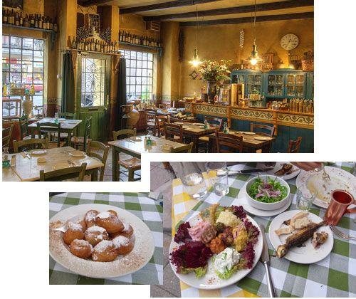 Grieche in Berlin. Es handelt sich hierbei um ein Restaurant, das eine spezielle Art der griechischen Tapas-Küche bietet, die sich in den 60er und 70er Jahren grosser Beliebtheit erfreute, mittlerweile aber fast ausgestorben ist. Ähnlich wie in einer spanischen Tapas-Bar trifft man sich hier mit Freunden zum Trinken und bestellt nacheinander kleine Teller mit unzähligen Köstlichkeiten.