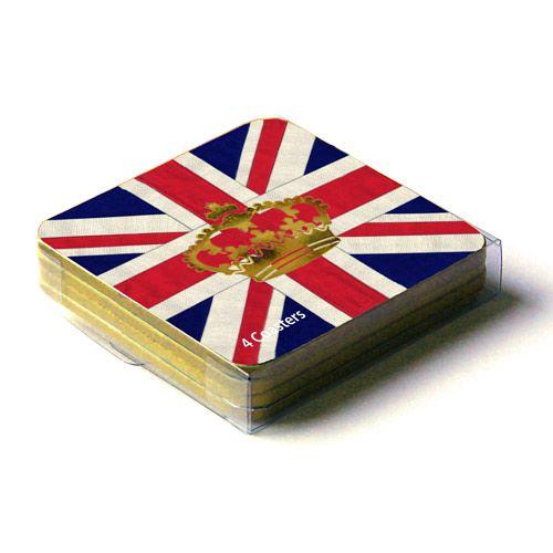 Union Jack Crown Coasters