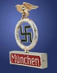"""A standard finial, for München """"Deutschland erwache"""""""
