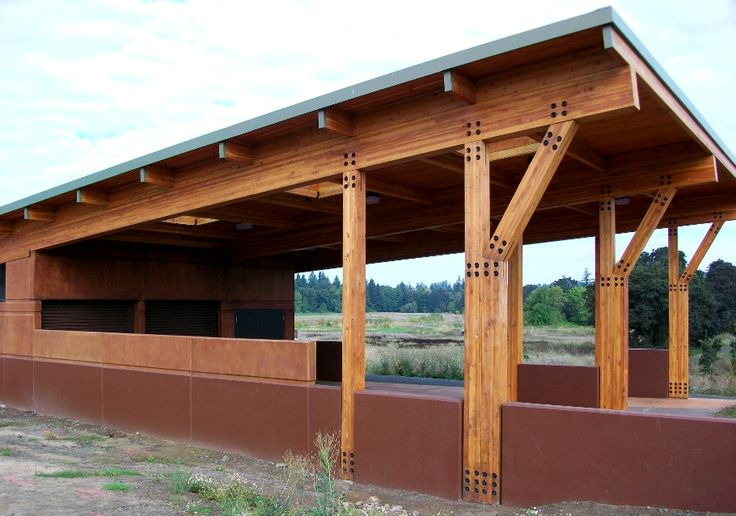 This Glulam Post And Beam Frame At The Tualatin River