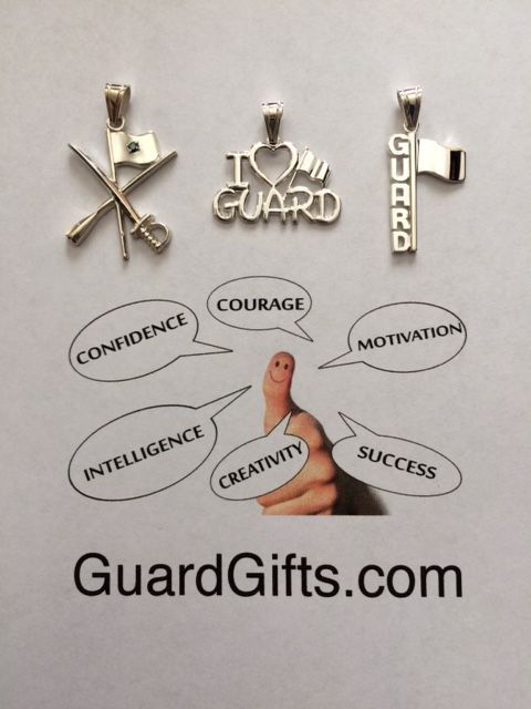 Color Guard and Winter Guard jewelry, charms, necklaces and more to commemorate this hard work and awesome time as a Guardie!   Fast and free shipping.  Satisfaction and smiles are guaranteed! http://GuardGifts.com