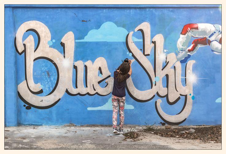 #graffiti, @warsaw Blue Sky - fot. Arek Uriasz