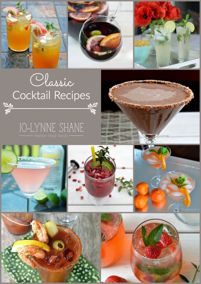 Classic Cocktail Recipes | From Mojito to Cosmo to Bloody Mary, we've got you covered with the BEST of the classic cocktail recipes.