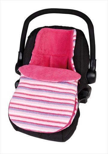 CLAIR DE LUNE Bilstolpose - Fun n Funky Sherbert Pink/Rosa. Hold babyen varm og koselig når de er i bilen med denne eksklusive bilstolpose laget i Storbritannia av babyprodukter produsent, Clair de Lune. Denne nydelig bilstolposen er laget av supermyk 'fleece' - perfekt til å holde babyen varm i kalde dager. Egnet for bruk i en gruppe 0 bilstol/Infant Carrier Car Seat med en 5 punkts sikkerhetssele. Kr 459