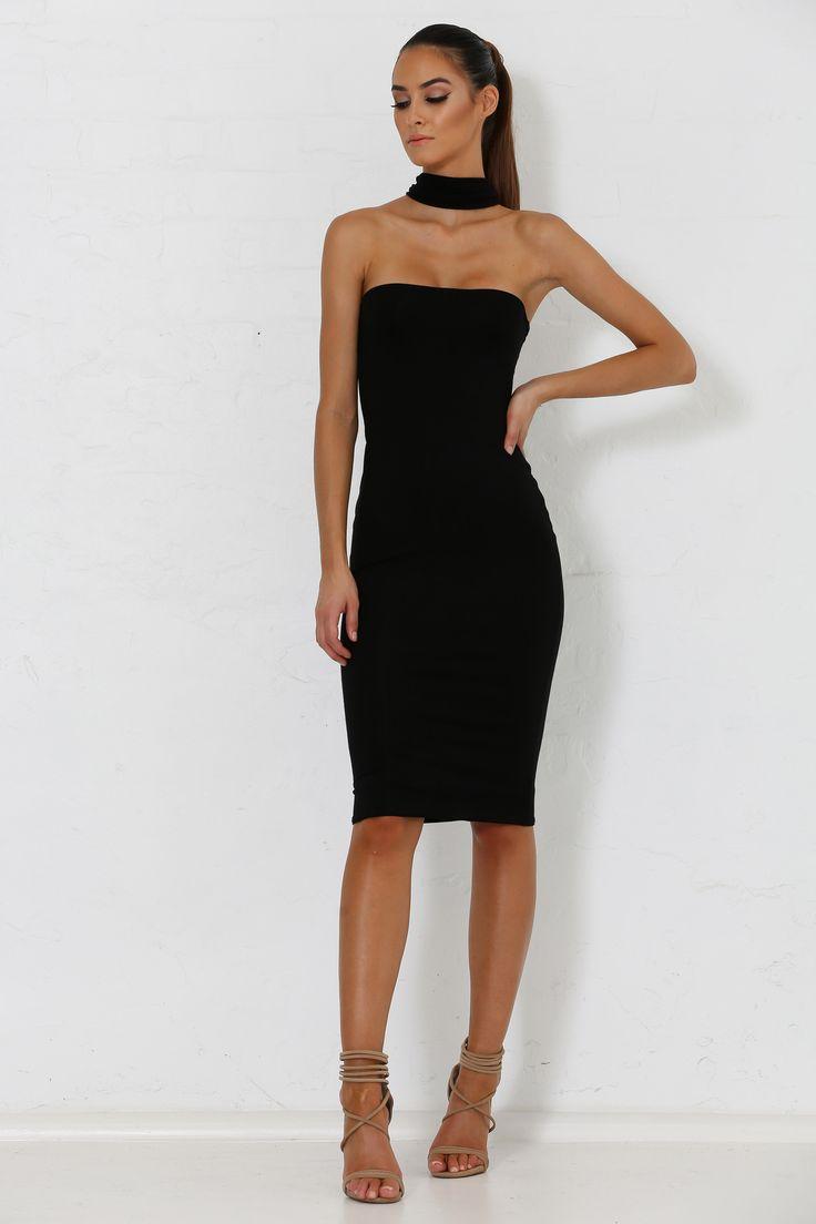 Michaela Multi Way Choker Dress - Black from Meshki Boutique