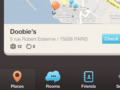 40 Dribbble Shots of iPhone Applications