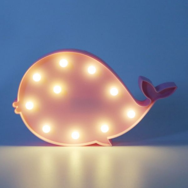 Novelty 3d Table Led Nightlight Pink Whale With Images Pink