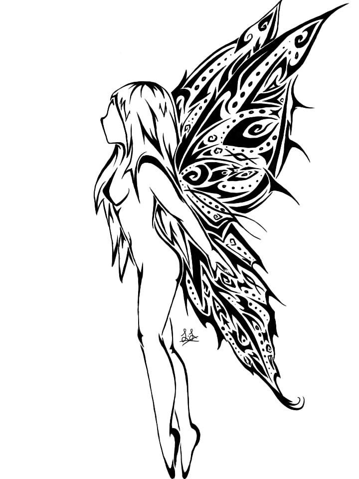 28 best Tattoo Stencil Fairy On Crescent Moon images on ...