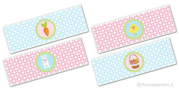 Fascette pasquali da stampare gratis ed utilizzare per decorazioni