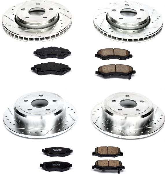 Power Stop Front & Rear Z23 Evolution Sport Performance 1-Click Brake Kit | Jeep Parts and Accessories | Quadratec