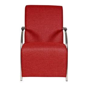 WOOOD fauteuil Halifax gestoffeerd rood