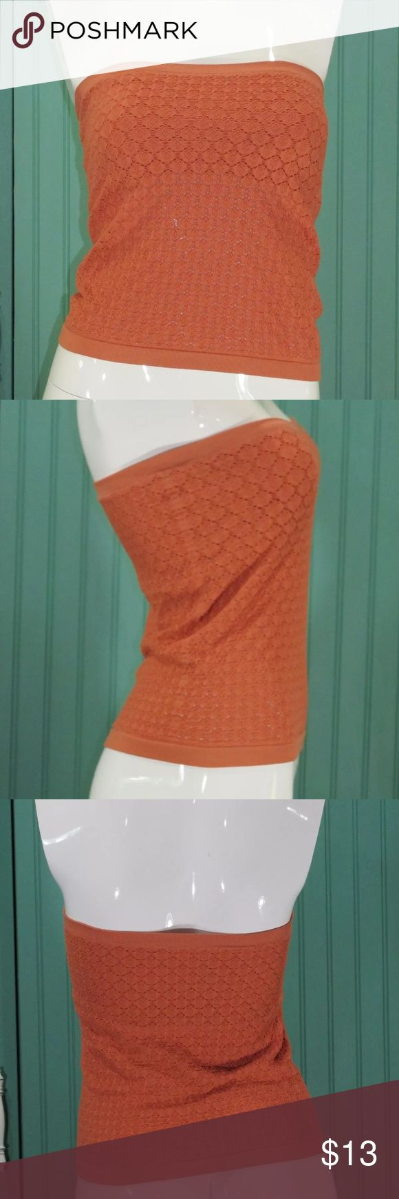 Free people intimately stretch coral tube top M/L Great condition, no flaws. Can also fit a size small Free People Tops
