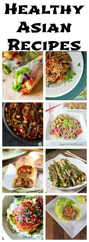 Awesome! Healthy versions of my favorite take-out. Healthy Asian Recipes