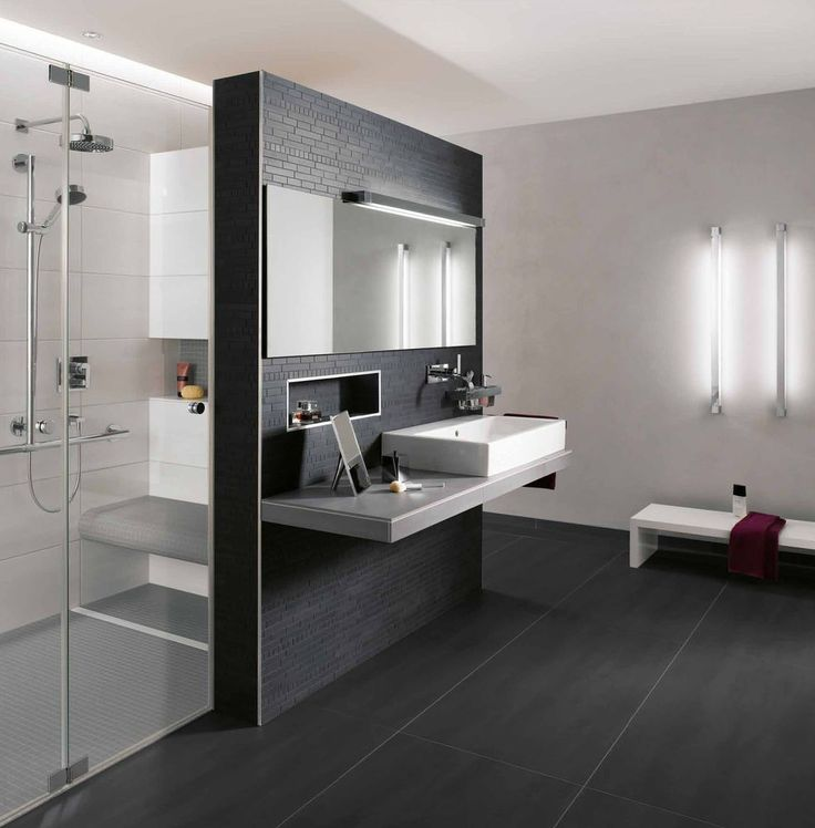 17 best ideas about photo salle de bain on pinterest - Douche italienne brique de verre ...